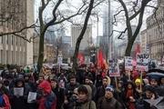 کاناداییها در اعتراض به تحریمهای آمریکا علیه ایران تجمع کردند