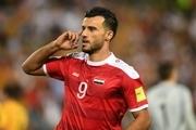 ستاره سوریه بازی با ایران را از دست داد