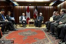تاکید روسای جمهوری ایران و سوییس دیدار و بر توسعه روابط فیمابین