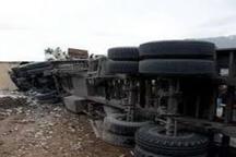 تصادف 2 دستگاه تریلی در دامغان تلفات جانی نداشت