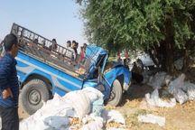 برخورد وانت با درخت در دزفول باعث مرگ راننده شد