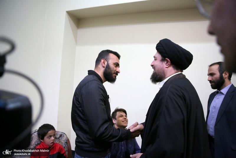 دیدار جمعی از ایتام و معلولین موسسه خیریه بهشت رضا(ع) با سید حسن خمینی