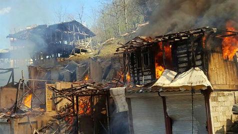 آتش سوزی مشکوک 12 باب منزل مسکونی در سراوان توسط اجنه!