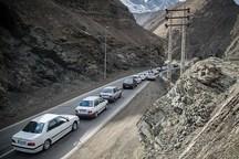 اجرای محدودیت ترافیکی درجاده کرج - چالوس