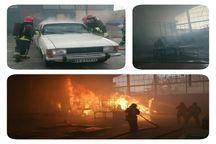 کارگاه و انبار ام.دی.اف طعمه آتش شد