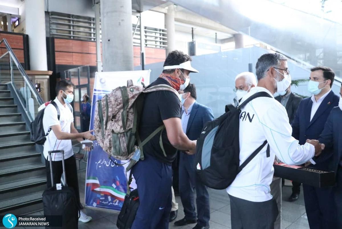 المپیک توکیو 2020  استقبال مسئولان از احسان حدادی و حسن تفتیان در فرودگاه+ تصاویر