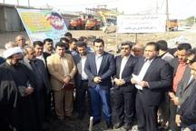 عملیات اجرایی 2 طرح عمران شهری در شادگان آغاز شد
