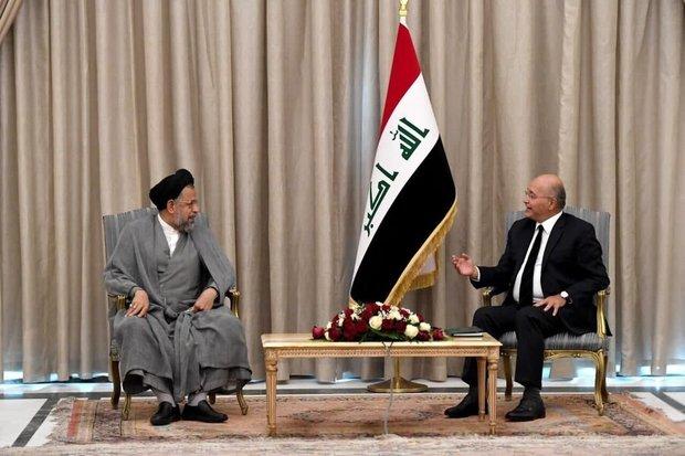 وزیر اطلاعات به دیدار رییس جمهور عراق رفت