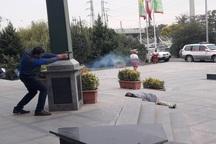 رزمایش حمله تروریستی به استانداری قزوین برگزار شد
