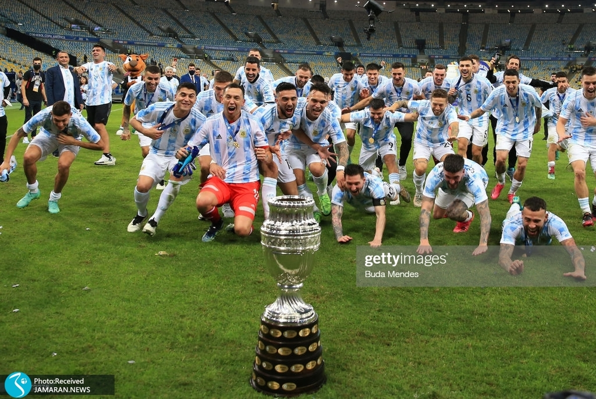 ویدیو/ جشن مسی و بازیکنان آرژانتین در رختکن پس از قهرمانی در کوپا آمریکا