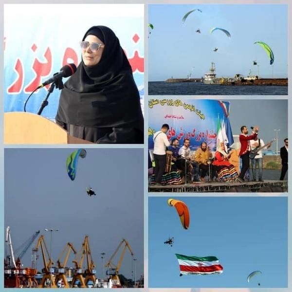برگزاری نخستین جشنواره ورزشهای آبی و هوایی شمال کشور در انزلی