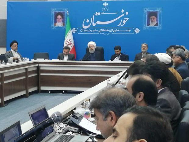 رئیس جمهور: هر کس بذر یاس می پاشد، بر خلاف دین خدا حرکت کرده است/ دشمنان میگفتند خشکسالی ایران را از بین میبرد؛ دست قدرت خدا این تفکر باطل را از بین برد