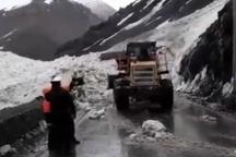 محدوده سقوط بهمن در جاده کرج - چالوس بازگشایی شد