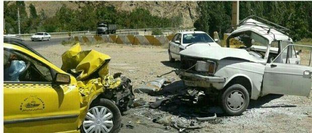 حادثه رانندگی در شمال دامغان یک کشته و سه مجروح داشت