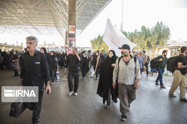 تردد بیش از ۵۷ هزار نفر از مرز مهران در ۲ روز گذشته