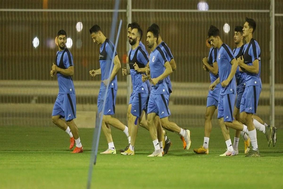 حرف های مجیدی با بازیکنان در تمرین استقلال