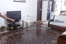 بارش شدید باران به ۲خانه روستایی در تاکستان آسیب زد