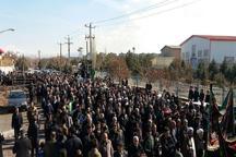 خاکسپاری 9 شهید گمنام در آذربایجان شرقی