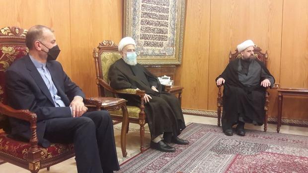 دیدار امیرعبداللهیان با خانواده امام موسی صدر در لبنان