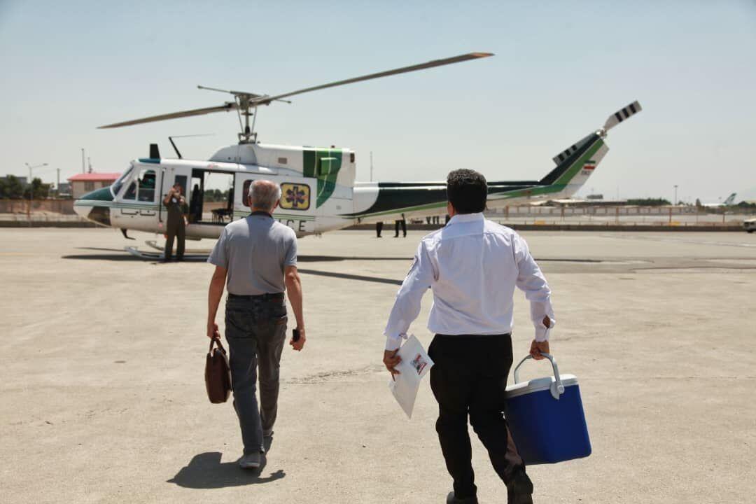 انتقال قلب اهدایی جوان یزدی به تهران توسط اورژانس هوایی