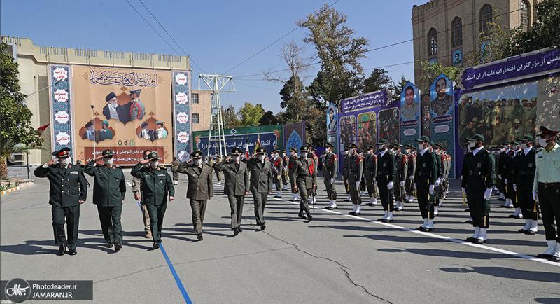 ارتباط تصویری فرمانده کل قوا با مراسم مشترک دانشآموختگی دانشجویان دانشگاههای افسری نیروهای مسلح