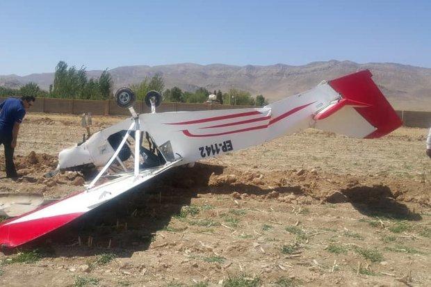 سقوط یک هواپیمای آموزشی در ایوانکی گرمسار  مرگ 2 سرنشین هواپیما