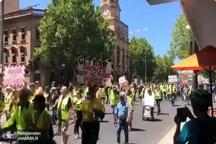«جلیقه زردها» در سیدنی+ عکس