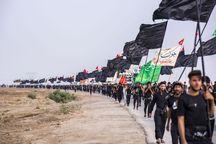 مشمولان وظیفه عمومی کرمان در راهپیمایی اربعین شرکت میکنند