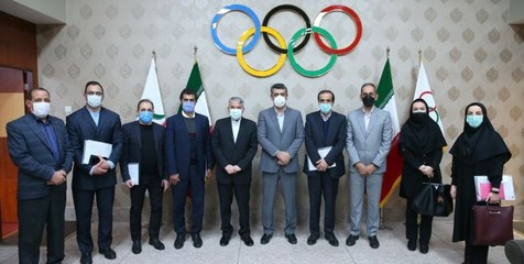 جلسه هیات رئیسه فدراسیون ورزش های ناشنوایان با حضور صالحی امیری