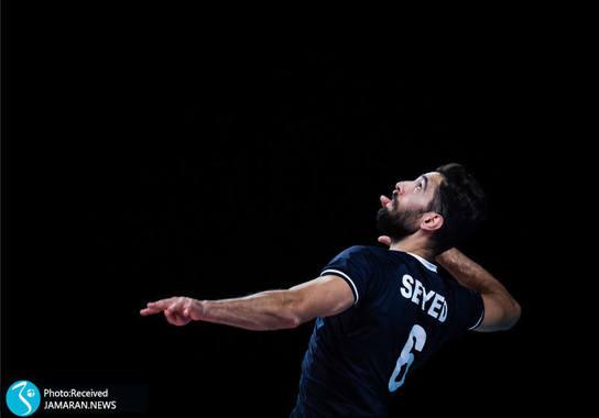محمد موسوی - لیگ ملت های والیبال 2021 - تیم والیبال ایران و برزیل