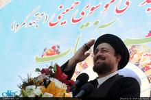 سید حسن خمینی در جمع پرشور مردم خمین: اخلاقی زندگی کنیم