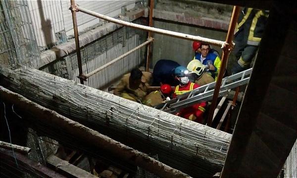 مصدوم شدن سه نفر بر اثر سقوط آسانسور