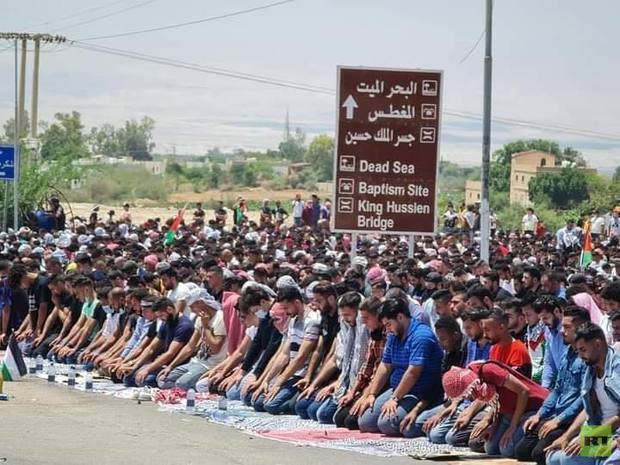 ادامه تظاهرات اردنی ها در مرزهای این کشور با فلسطین اشغالی +تصاویر