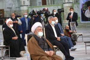 تجدید میثاق رئیس قوه قضاییه و مسئولان قضایی با آرمانهای امام خمینی(س)