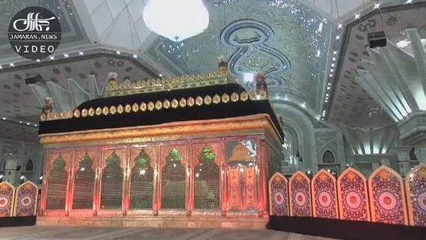 عزاداری شب هشتم محرم در حرم مطهر امام خمینی(س)