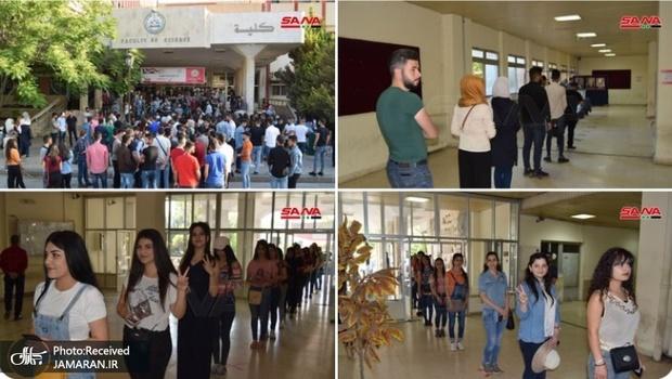 آغاز انتخابات ریاست جمهوری سوریه با استقبال گسترده مردمی+ تصاویر
