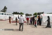 یک هزار نفر از سیل زدگان دارخوین شادگان اسکان یافتند