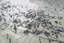 تصاویر هوایی از مناطق سیل زده هرمزگان