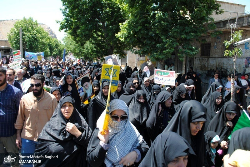راهپیمایی باشکوه روز جهانی قدس در خرم آباد - 8