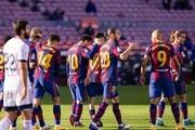 جشنواره گل بارسلونا مقابل اوساسونا/ شادی گل جالب مسی به یاد مارادونا+ تصاویر