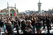 مردم شهر قنوات قم در عزای حسینی به سوگ نشستند