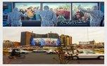 دیوارنگاره جدید و کرونایی میدان ولیعصر(عج)/ عکس