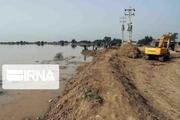 شکستن دیواره نهر باعث نفوذ آب در حوزه شهری اروندکنار شد