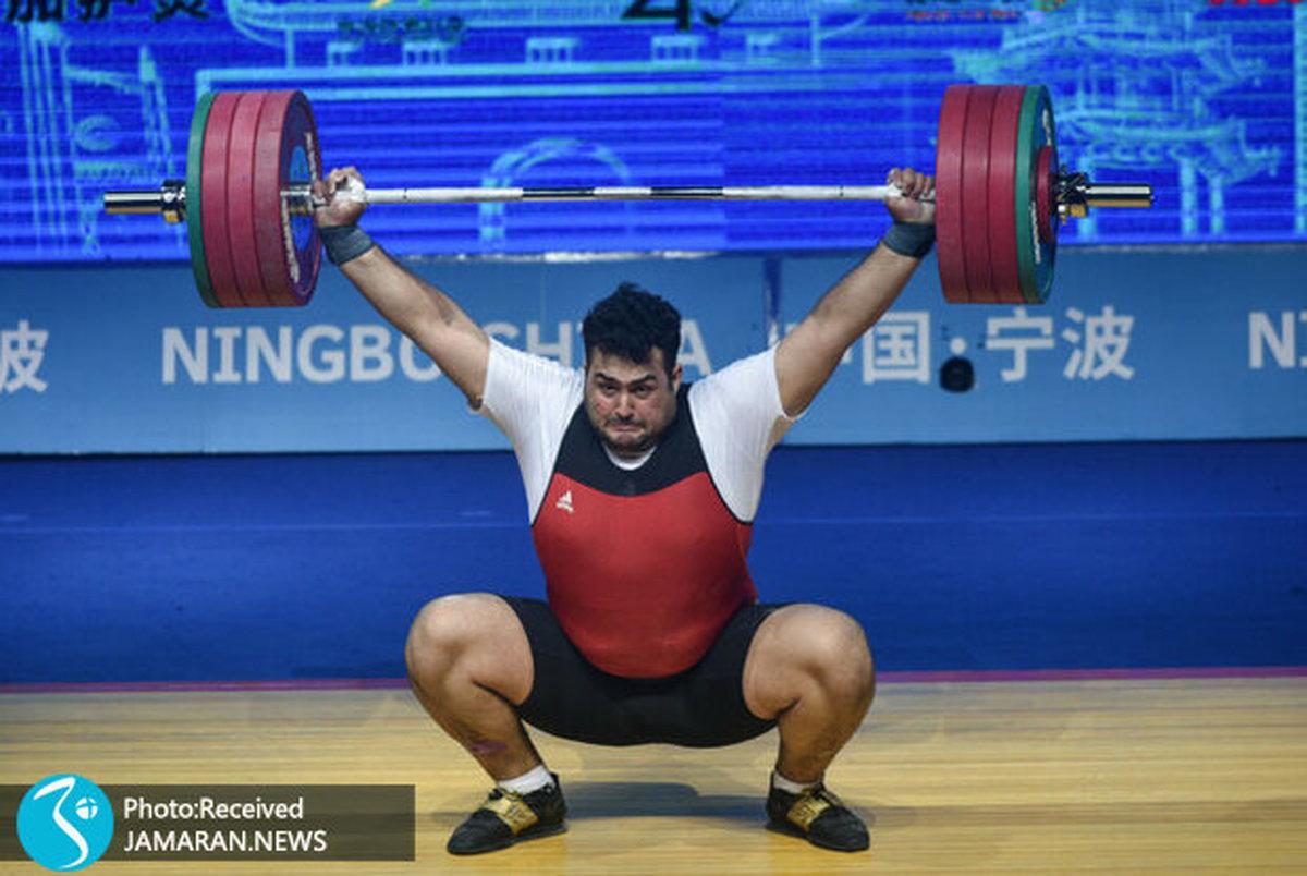 وزنه بردار المپیکی ایران: نقره من قطعی نیست/ باید از این فرصت طلایی نهایت استفاده را کنم