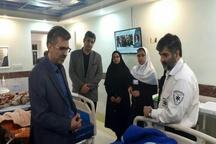 عیادت معاون درمان دانشگاه علوم پزشکی مازندران از مصدومین حادثه گلوگاه
