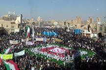حماسه حضور  طنین فریاد مرگ بر آمریکا در استان یزد