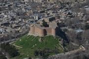 ضلع غربی قلعه فلک و الافلاک خرم آباد دچار ریزش شد