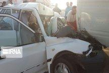 برخورد پراید با مینیبوس در دامغان ۳ مجروح برجا گذاشت