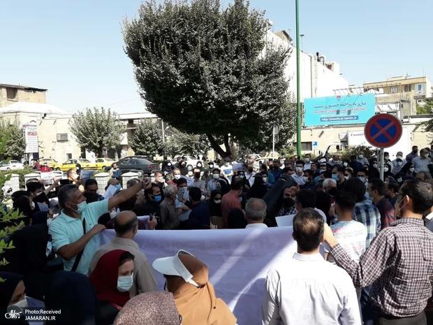 تجمع امروز جمعی از فرهنگیان مقابل مجلس + تصاویر
