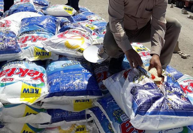 بیش از 35 تن برنج قاچاق توسط ماموران گمرک خسروی کشف شد